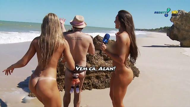 Juju e Nicole na praia de nudismo sem tarjas | Porno 18