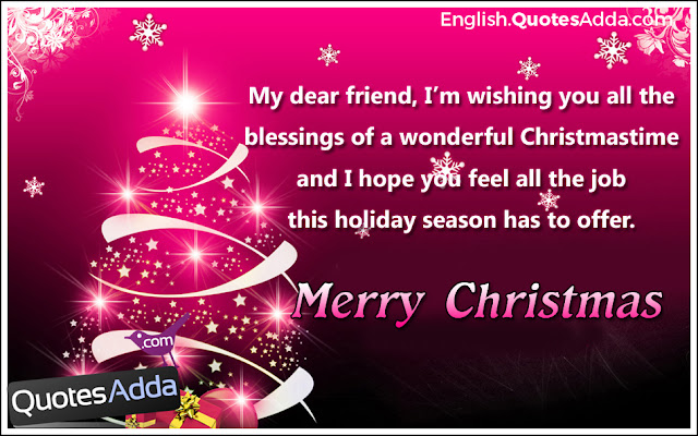 Cute Merry Christmas Quotes For Friends : December english quotesadda