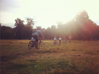 Hyde Park family cycling