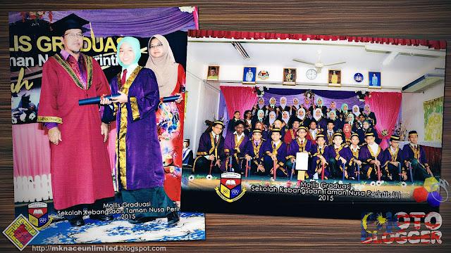 Foto rasmi Majlis Graduasi SK Taman Nusa Perintis 2015