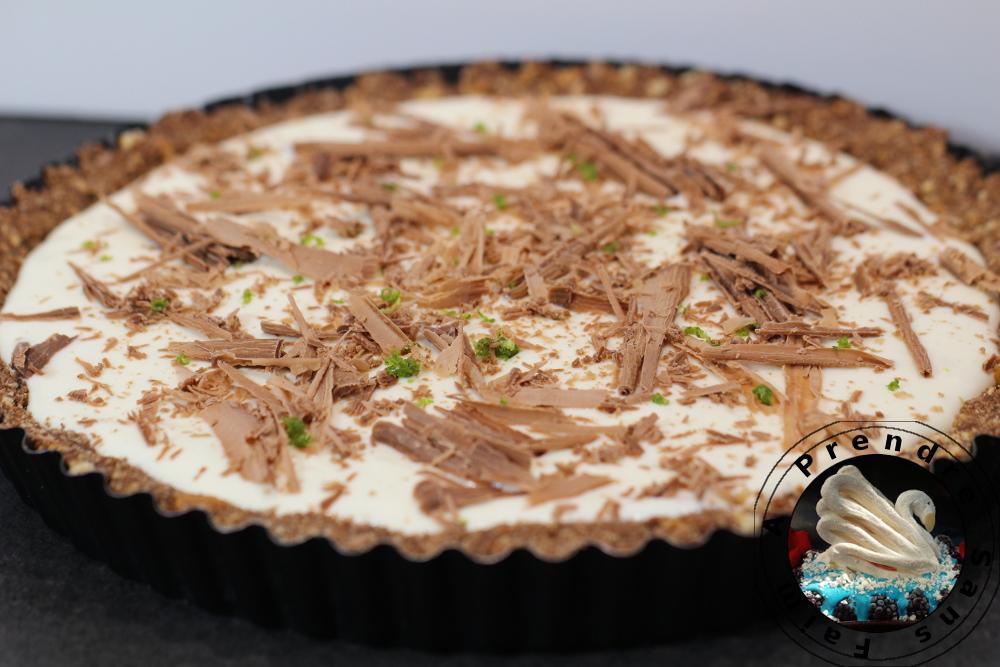 Tarte au chocolat et citron vert sans cuisson a prendre sans faim - Tarte au chocolat sans oeuf ...