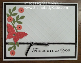 Diagonally Scored Card made with Stampin'UP!'s Elegant Butterfly Punch