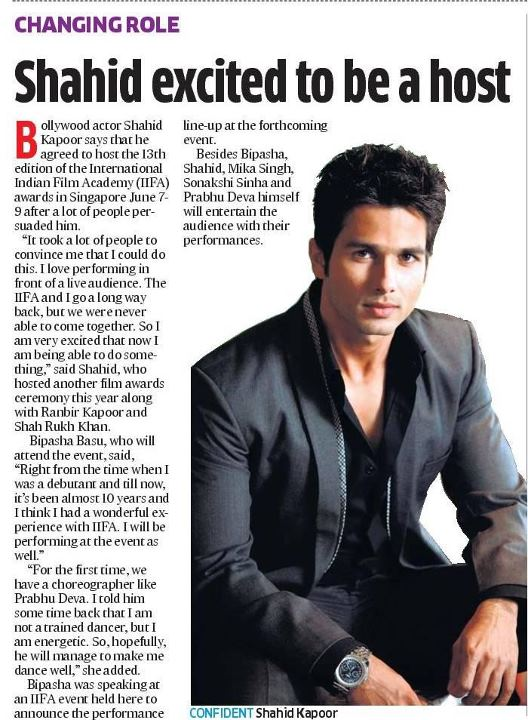shahid excited to be a host