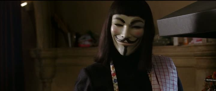Screen Shot Of V for Vendetta (2005) Dual Audio Movie 300MB small Size PC Movie