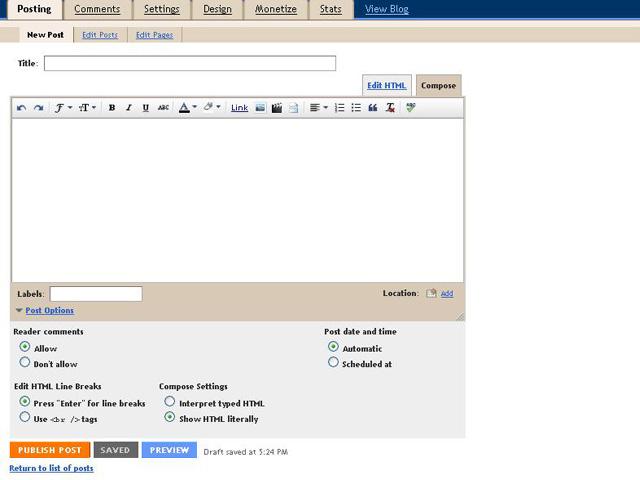 Cara Membuat Artikel Pada Blog