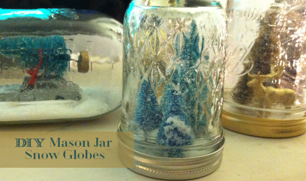 mason jar snow globes DIY tutorial by oh lovely day