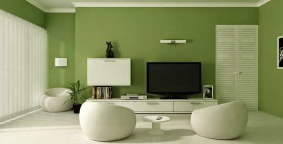 Paint Colors For Living Room Walls, White And Green Living Room
