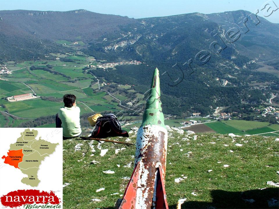 Mirador del valle de Améscoa. Nacedero del Urederra  Baquedano