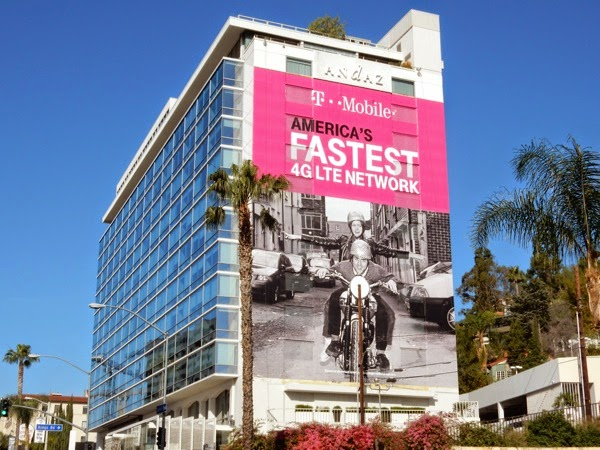 TMobile Americas fastest 4GLTE network billboard