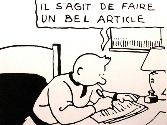 Journalistes occidentaux  Tintin