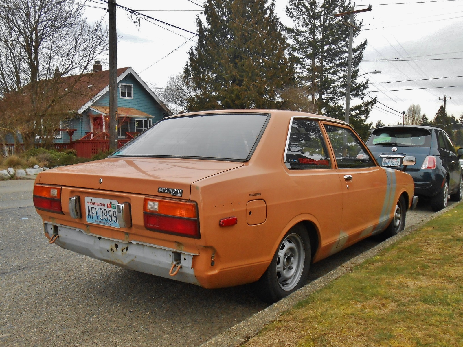 seattle s parked cars 1981 datsun 210