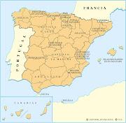 MAPA DE LAS PROVINCIAS DE ESPAÑA (mapa ccaa)