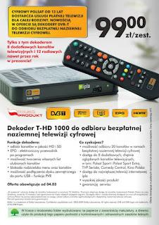 Dekoder T-HD 1000 DVB-T Biedronka ulotka
