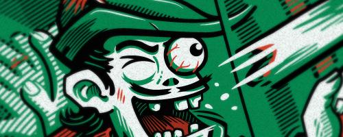 parodie de Robin des Bois Zombie Robin des Bras Zombifier t-shirt