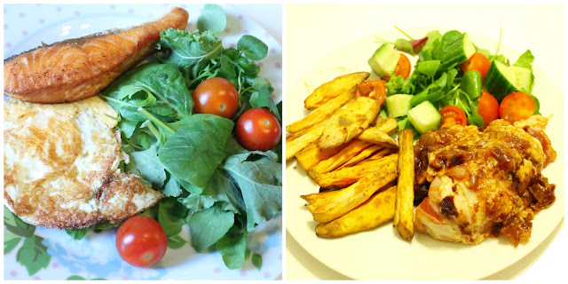 slimming world meals salmon egg salad bbq chicken melt with sweet potato chips and salad