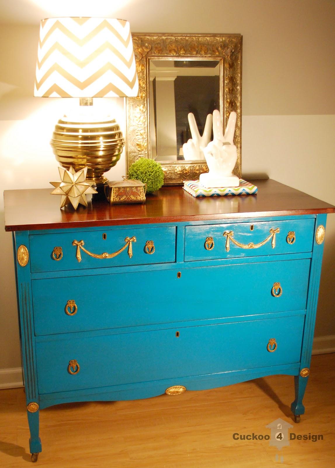 Gold Painted Dresser Dresser With Gold Leaf