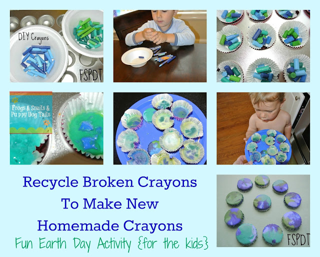 How To Make Homemade Multi Colored Crayons {Great Earth Day Activity}