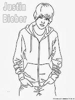 Mewarnai Gambar Justin Bieber