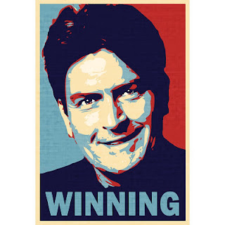Charlie Sheen is probably the worst example for winning an argument... but the picture is great right?