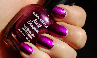 Kleancolor Mteallic Fuschia, a beautiful magenta/fuschia colored nail polish