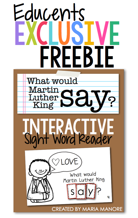 FREE emergent reader for MLK day