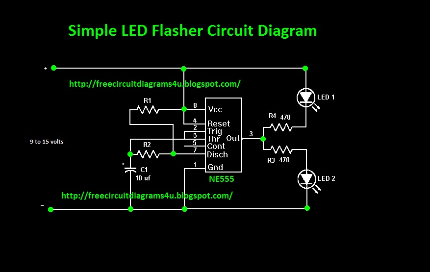 Blinking Led Circuit With Schematics And Explanation Custom Wiring