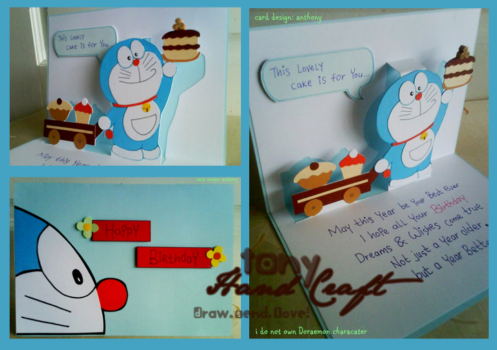 Tonyhandaft specially requested and made doraemon birthday craft specially requested and made doraemon birthday card in quilling stopboris Choice Image