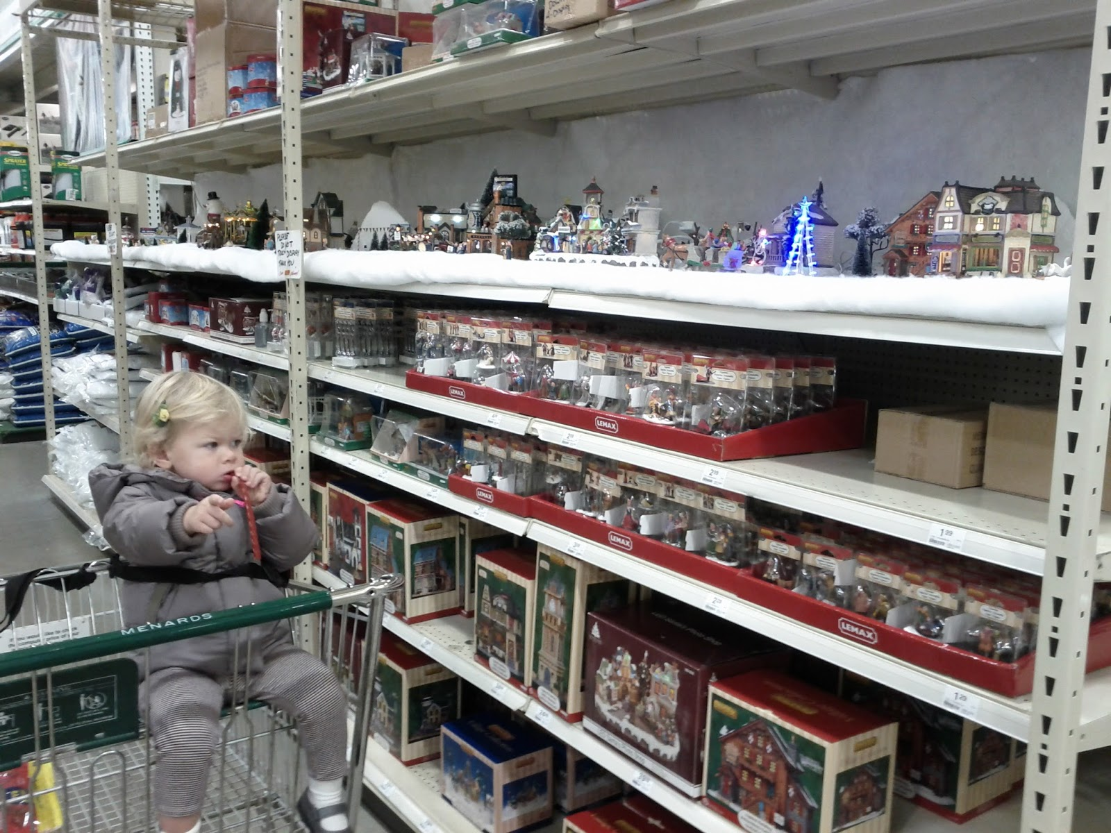 Menards Lemax Christmas Village Set Up - 2011
