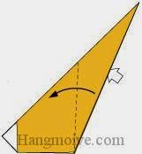 Bước 6: Từ vị trí mũi tê, mở lớp giấy ra.