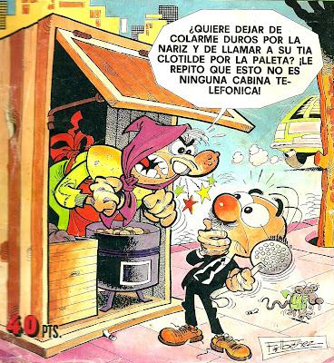 Dibujo de Rompetechos haciendo de las suyas por Francisco Ibañez