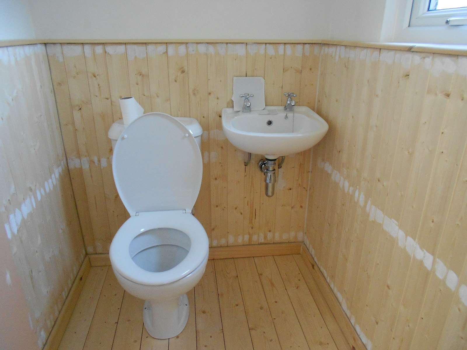 Tongue and groove for bathrooms -  And Then The Bathroom Fitter He Put In A Nice New Toilet And Basin And Then Fitted Tongue And Groove To Cover The Ugly Pipework And A Timber Floor Too