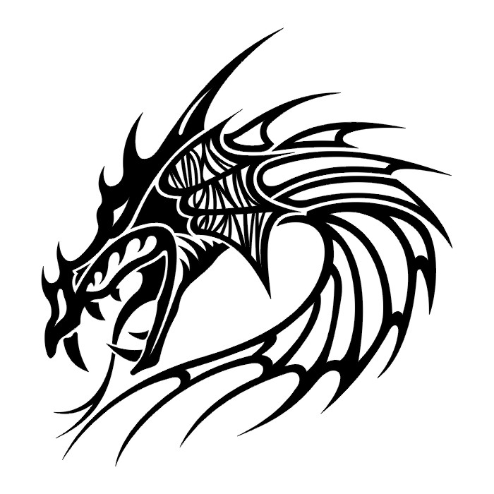 Tribal Head Dragon Tattoos For Men InspirationTribal Dragon Head Designs