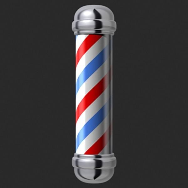 Animated Barber Pole Barber Necklace Galler...