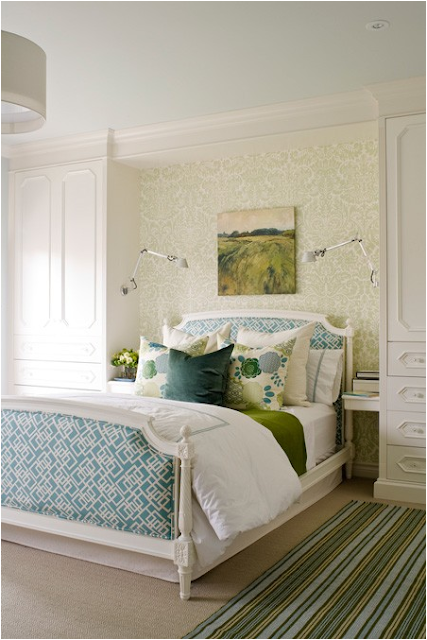 blue and green for teenage girls bedroom is beautiful