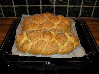 طريقة عمل خبز مضفر بالصور