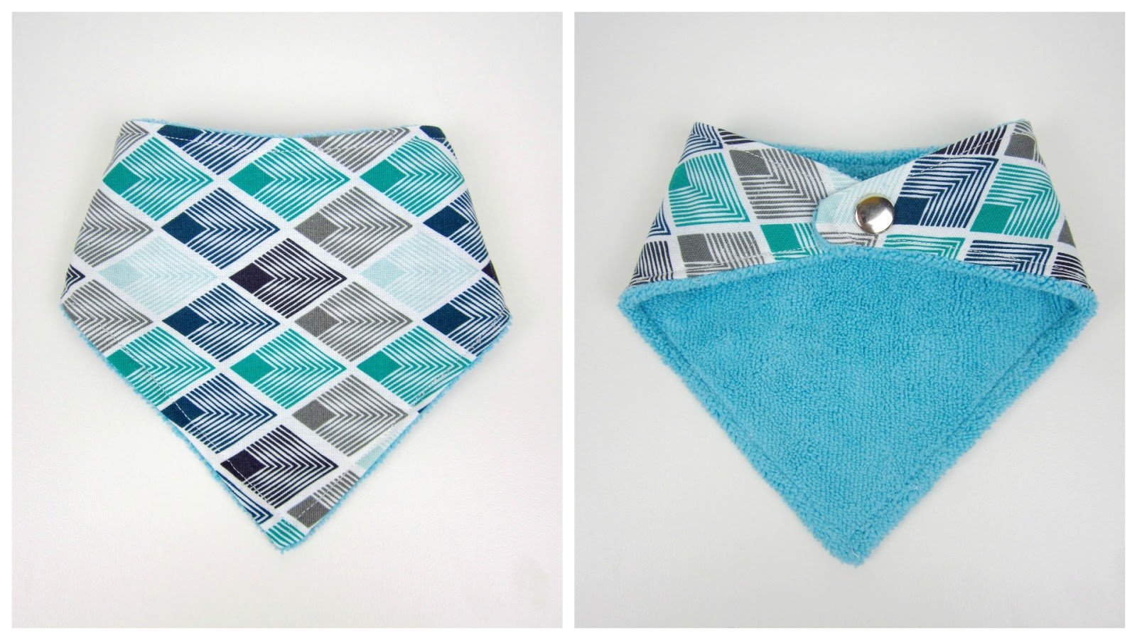 StyleNovice: {Step-by-Step Sewing} Simple Bandana Baby Bib 3m - 36m