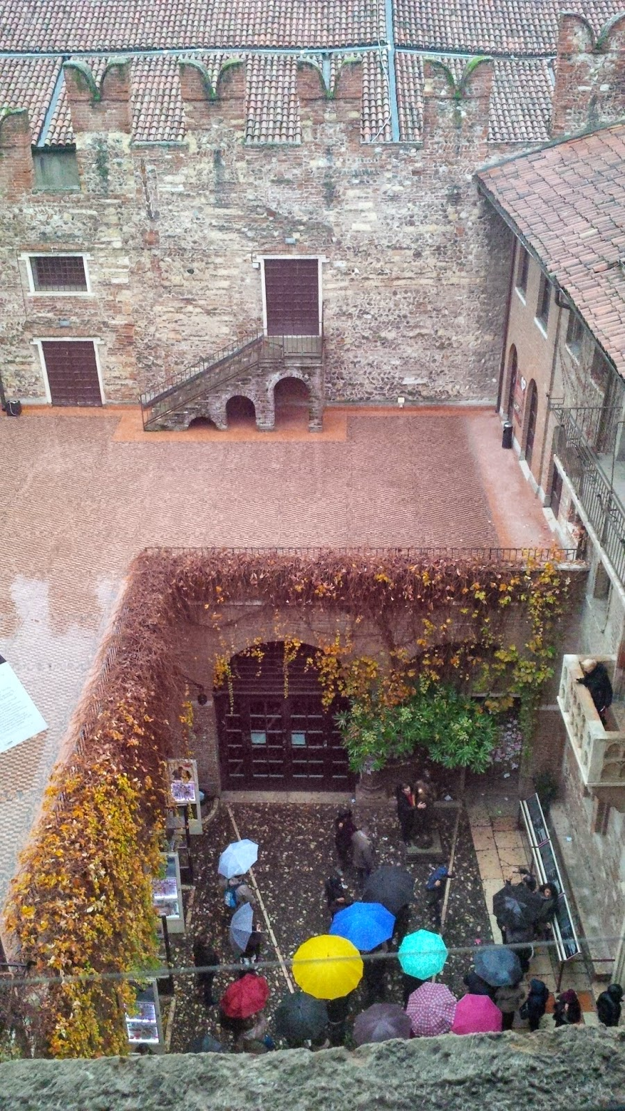 The courtyard of Juliet's House seen from the attic rooms