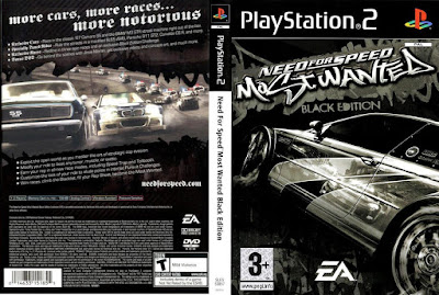 Jogo Need For Speed Most Wanted Black Edition PS2 DVD Capa