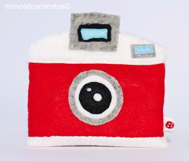 monedero de fieltro cámara de fotos