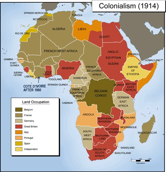 1.1 Colonial Africa Map   1. GCW4U Spring 2016