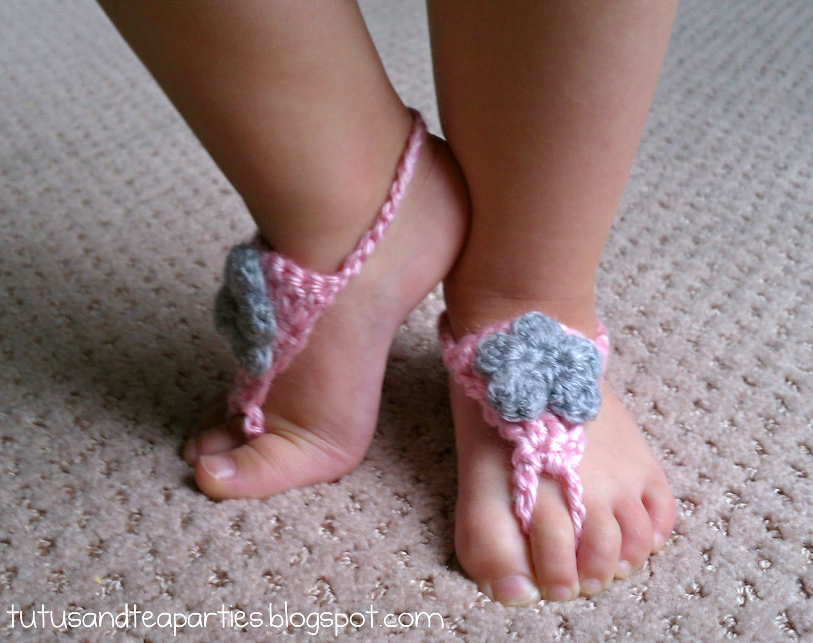 Free Crochet Pattern Baby Barefoot Sandals : Tutus and Tea Parties: Free Crochet Pattern Crochet ...