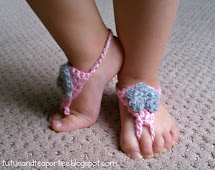 Free Crochet Baby Barefoot Sandals Pattern