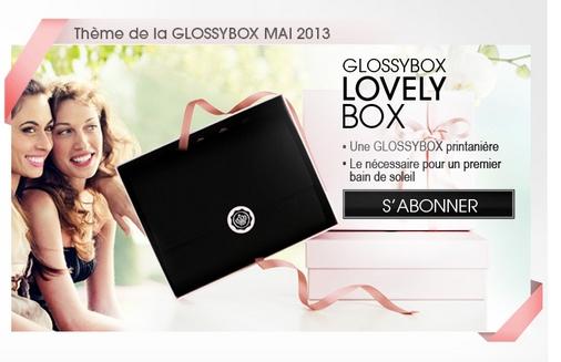 Thème de la glossybox de mai: Lovely Box