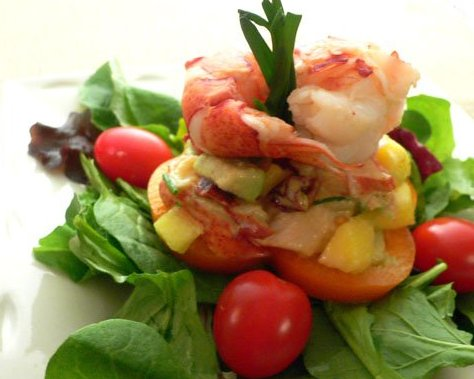 Lobster Salad with Mango-Avocado Salsa | The Heart Smart Gourmet