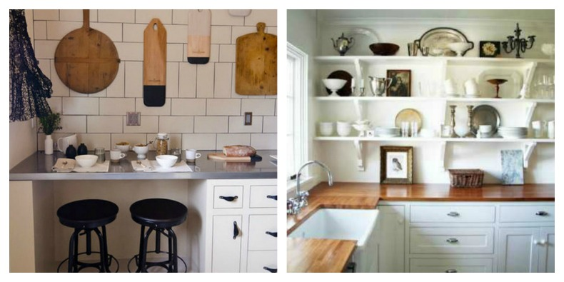 Coastal Kitchens with collection displays
