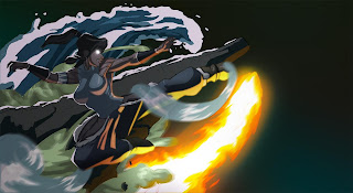Legend of Korra Avatar Korra Fire Water Earth Water Bending HD Wallpaper Desktop PC Background 1638
