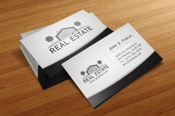 30 best examples of real estate business card designs jayce o yesta real estate business card designs wajeb Image collections