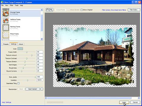 Prilagođavanje i doterivanje filtera je moguće preko settings kartice