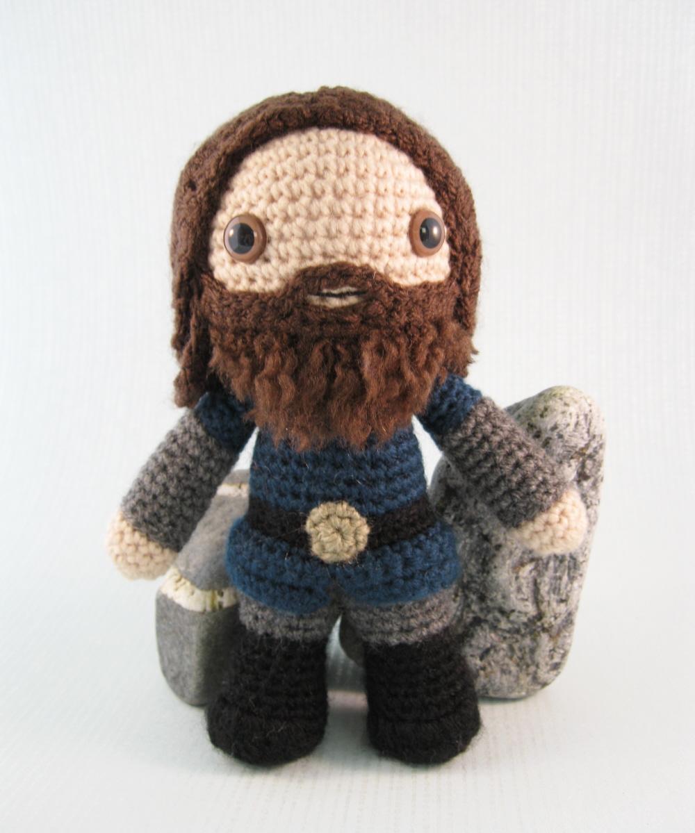 Crochet Dwarf Beard Hat Pattern : LucyRavenscar - Crochet Creatures: Dwarf amigurumi pattern