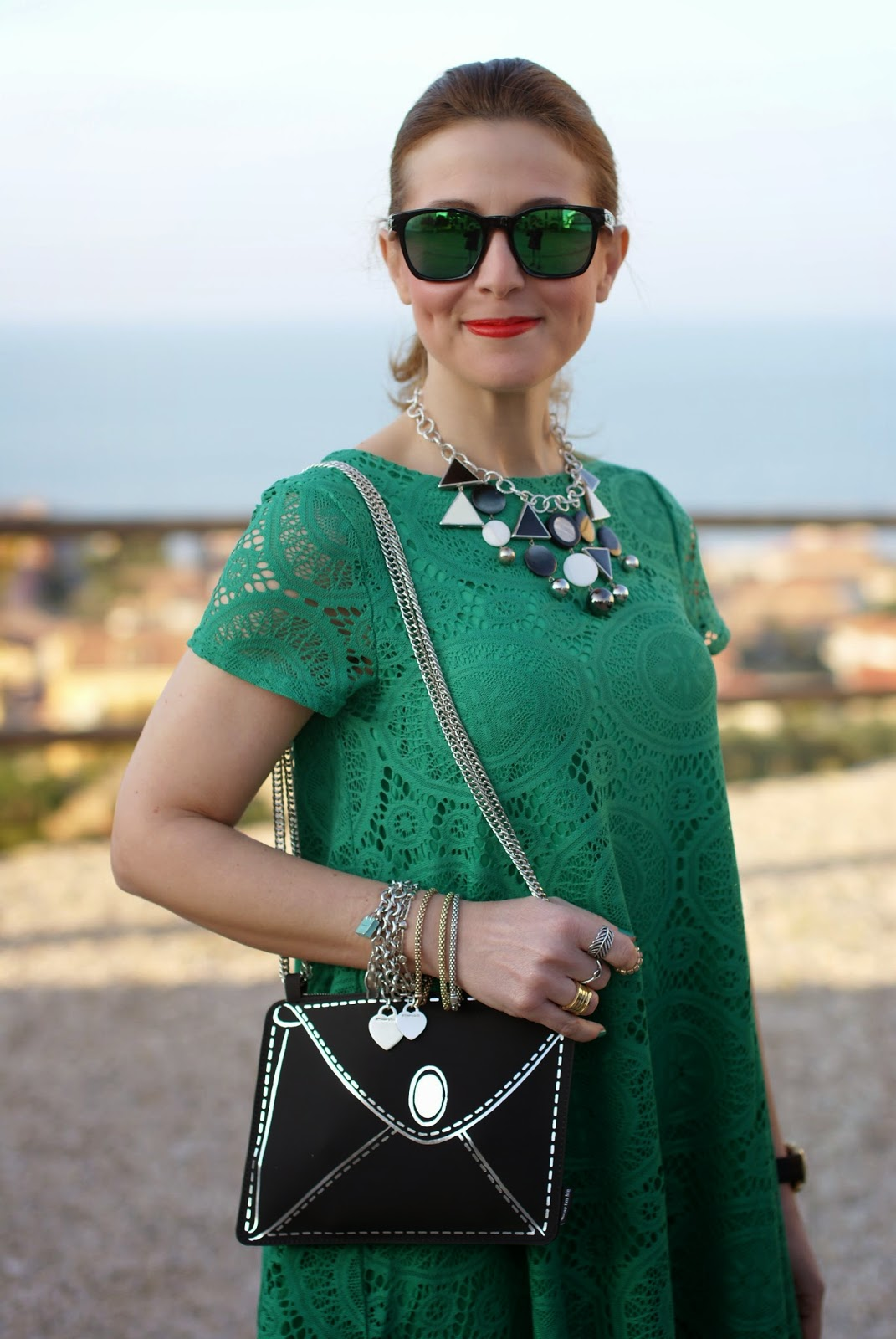 Vitti Ferria Contin jewelry, Today I'm me evening bag, Sheinside lace green dress, Fashion and Cookies, fashion blogger